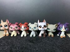 7x Littlest Pet Shop Collie Dogs Great Dane Dog Lps Toys Collection Rare Animal