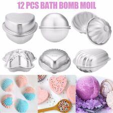 12PCS 6 Shape Aluminum Bath Bomb Molds Cake Pan Baking Moulds Crafting AU