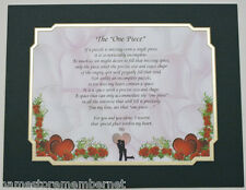 """The """"One Piece""""  Personalized Poem GIFT  The PERFECT Valentine's Day,Anniversary"""