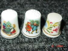 3,Old,Avon,Thimbles,Christmas,1981,1982,Floral,Xmas