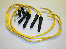 SUZUKI GSXR TAYLOR yellow ignition leads & moulded long boot plug caps. set of 4