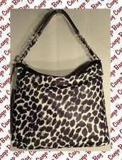 New Kate Spade Black & White Animal Print Purse On The Ave Med Serena Free Ship