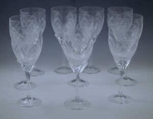 ROSENTHAL STUDIO IRIS FROSTED ETCHED set of 10  WINE GOBLETS MODERN