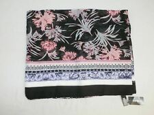 Express Women's Floral Border Print Scarf Wrap Multi-Color One Size New DC2