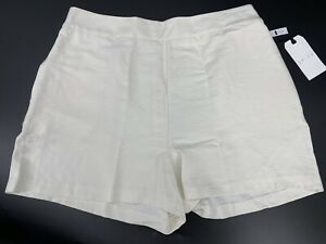 Leith Ivory High Waisted Shorts Womens Size XL