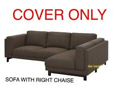 Ikea Nockeby Cover Slipcover For Sofa with Right Chaise Teno Brown