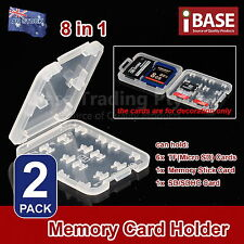 2x 8 in 1 Memory Card Holder MICRO SD TF SDHC Protection Box Stick Storage Case
