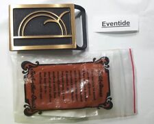 TECH ETHER GUILD EVENTIDE BELT BUCKLE SOLID BRASS 1979 NEW MADE IN USA