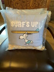Pottery Barn Kids Snoopy® Pillow Surfs Up Peanuts NWT