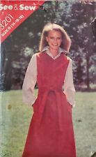 Vtg Butterick See & Sew pattern 3201 Misses' semi-fitted Jumper sz 14 bust 36
