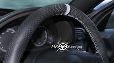 Para Mercedes C W203 2000-07 Cubierta del Volante Cuero Perforado + Correa Gris