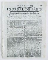 Abolition droits Féodaux 1789 Louis 16 à l'assemblée Nationale Volney 4 Août