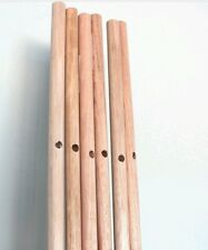 4 x Sticks poles for Teepee tepe tent Wooden Broom Handle 150cm x2cm- 60in long