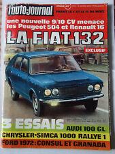 l'auto-journal n°5 1972  Fiat 132  504 peugeot R 16
