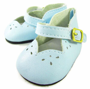"""Light Blue Scalloped Shoes for 18"""" American Girl Doll Clothes HIGHEST QUALITY"""