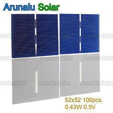 100pcs Poly-crystalline 52x52mm Solar Cells Panel Battery Charger Yard Light DIY