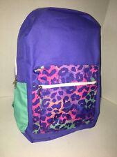 Girl's Backpack Purple/Mint/Cheetah