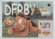 1999 Ty Beanie Babies Series 2 Chase Maple Leaf #165 Derby the Horse Card ha8