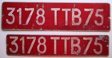 France 1960's License Plate EXPORT PAIR # 3178 TTB75