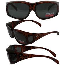 BEAK POLARIZED Smoke LENS Sunglasses TORTOISE FRAMES Fit Over GLASSES