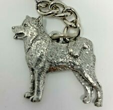 Alaskan Malamute Pewter Dog 3D Keychain Key Chain Ring Fob Gg Harris
