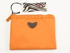 New Roberto Cavalli Orange Nylon Freedom Collection Wallet