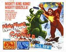 King Kong Vs Godzilla Poster 05 Metal Sign A4 12X8 Aluminium