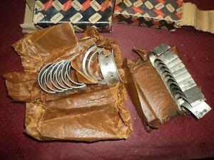 Nos 1948 53 Chevrolet 216 235 L6 Engine .20 Main Rod Bearing Set Glacier
