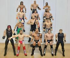 Set of 4 WWE wrestling figures inc. John Cena, The Rock, Kane & Rey Mysterio