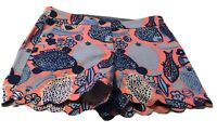 Talbots Scalloped Edge Shorts 6P Multicolor Floral Short Zip Fly Stretch Pockets
