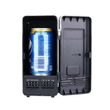 Mini Fridge Cooler and Warmer Portable USB Powered Can Refrigerator Black