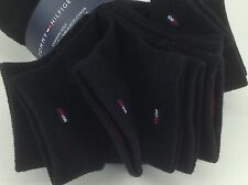 Women's TOMMY HILFIGER Black THICK 80% COTTON Socks - 6 Pack - $36 MSRP