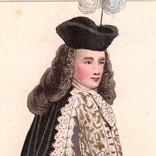 Portrait XIXe Michel Ancel des Granges Maîtres des Cérémonies Louis XV 1850