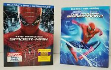 The Amazing Spider-Man 1 & 2 Blu-ray + DVD Set Bundle With Sleeves Marvel