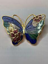Brosche Vintage 70er Schmetterling Emaille  *** Retro ***