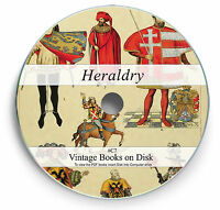 Heraldry Family Crest Ancestry 200 Rare Books on DVD - Shield Emblems History C7