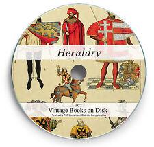 Heraldry Family Crest Ancestry 200 Rare Books on DVD - Shield Emblems History C7