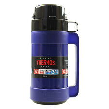Thermos 500ml Blue Mondial Glass Vacuum Insulated Hot Cold Travel Bottle Flask