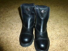 Harley Davidson Ankle Boot with side zippers Size 8 1/2 USA in very good conditi