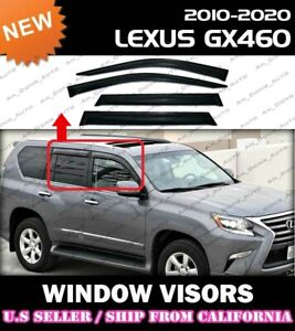 WINDOW VISORS for 2010 → 2021 Lexus GX460 / DEFLECTOR RAIN GUARD VENT SHADE