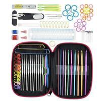 100x DIY Aluminum Crochet Hooks Sweater Knit Weave Craft Sewing Needles Set Kit