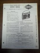OEM Philco Service Manual for the T-76/T-76X Code 124 Transistor Radio~Original