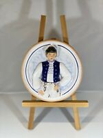 "L'UDUMKER Slovakia Ceramic Wall Art Wall Hanger Decoration 6"" Round HANUSEK"