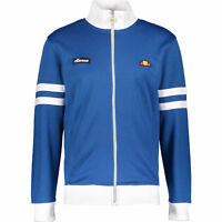ELLESSE Men's ROMA Classic Blue and White Tracktop / Zip Up Jacket - size Medium