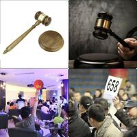 1x Wooden Handmade Craft Gavel Sound Block for Lawyer Judge Auction Sale Hammer
