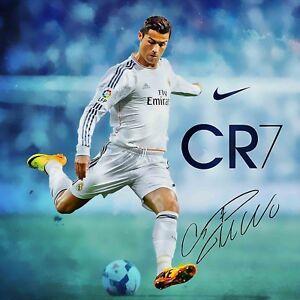 Reprint For Cristiano Ronaldo Poster Wall Art Home Decor Photo HD Print