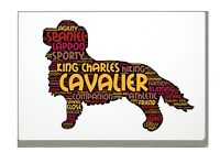 Cavalier King Charles Spaniel Word Art Canvas A4A3A2A1 Gift Personalised Option