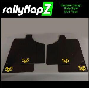 Abarth 595 rallyflapZ Qty4 Mud Flaps Guards & Fixings Black 4mm PVC *Gloss L-Y