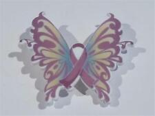Butterfly - Free Uk P&P.Cg2120 Acrylic Brooch - Pink Cancer Hope
