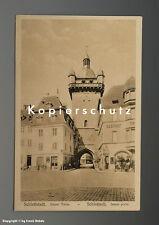 AK Laden in Schlettstadt mit BERGER + PSCHORR Emailschild um 1920
